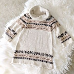 Other - Fair Isle Turtleneck Sweater Dress